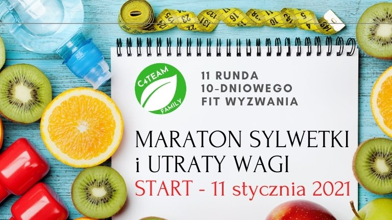 Maraton sylwetki i Utraty Wagi, 10-dniowe Fit Wyzwanie, 11 styczeń 2021 c4teamfamily.com